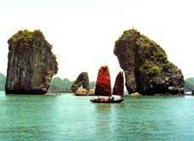 Map of islands in Halong Bay