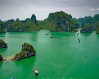 Halong Bay islands  photo