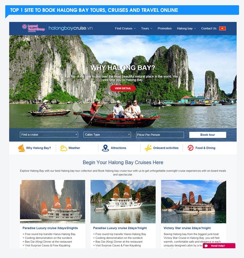 Choosing the right Halong bay cruise site for you