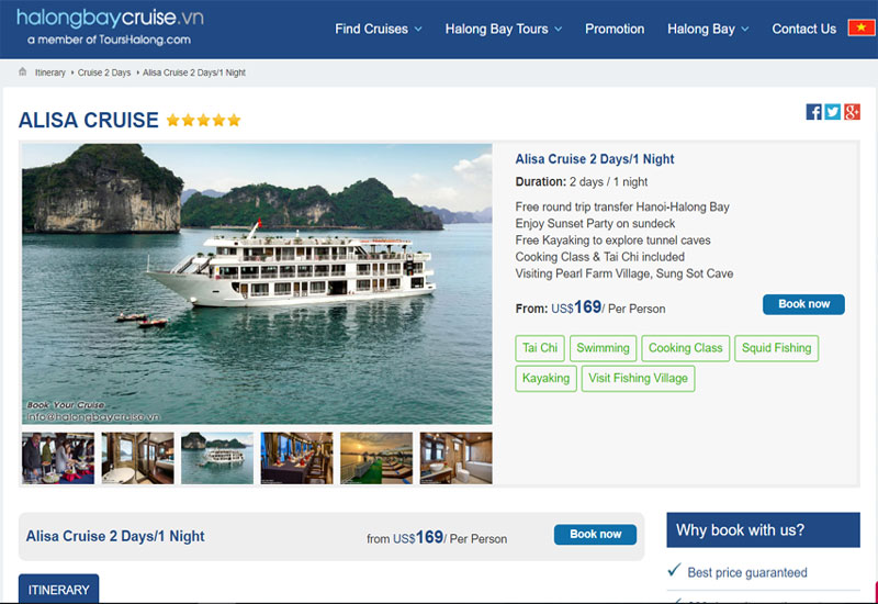 How to book a cruise in Halong Bay?