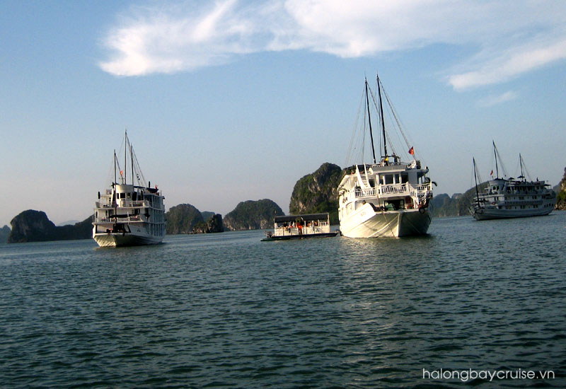 Unwind on a Halong Bay overnight cruise