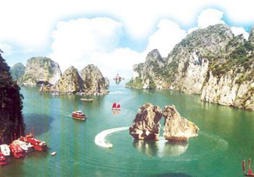 Thousands of islands and islets in Halong Bay