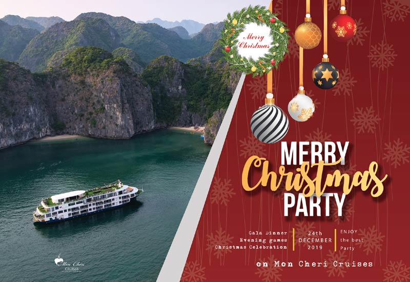 Merry Christmas Party on Mon Cheri Cruises