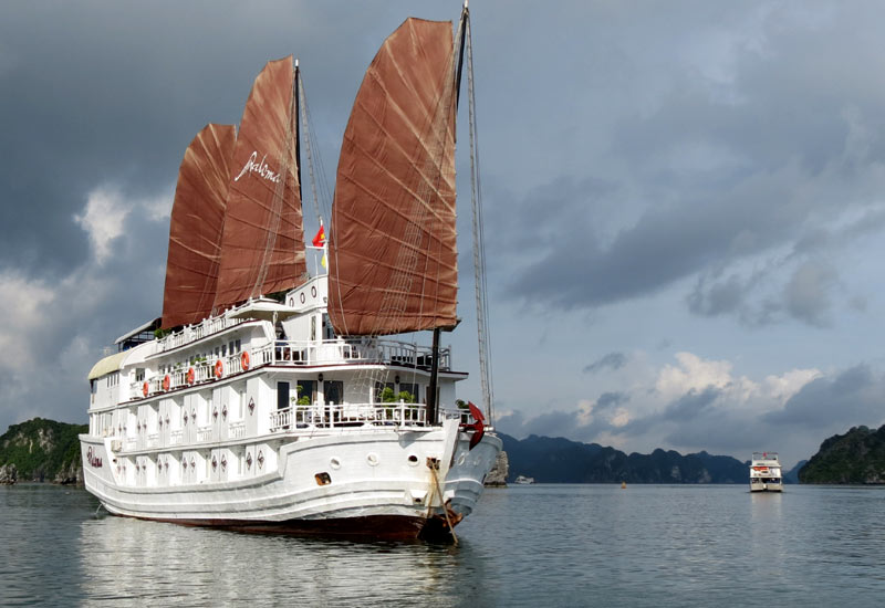 Tropical Storm and Typhoon in Halong Bay
