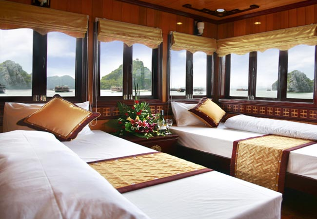 Golden Lotus Cruises deluxe cabin